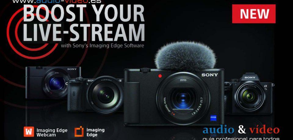Sony Imaging Edge Webcam un software para realizar videollamadas y streaming en vivo de alta calidad.