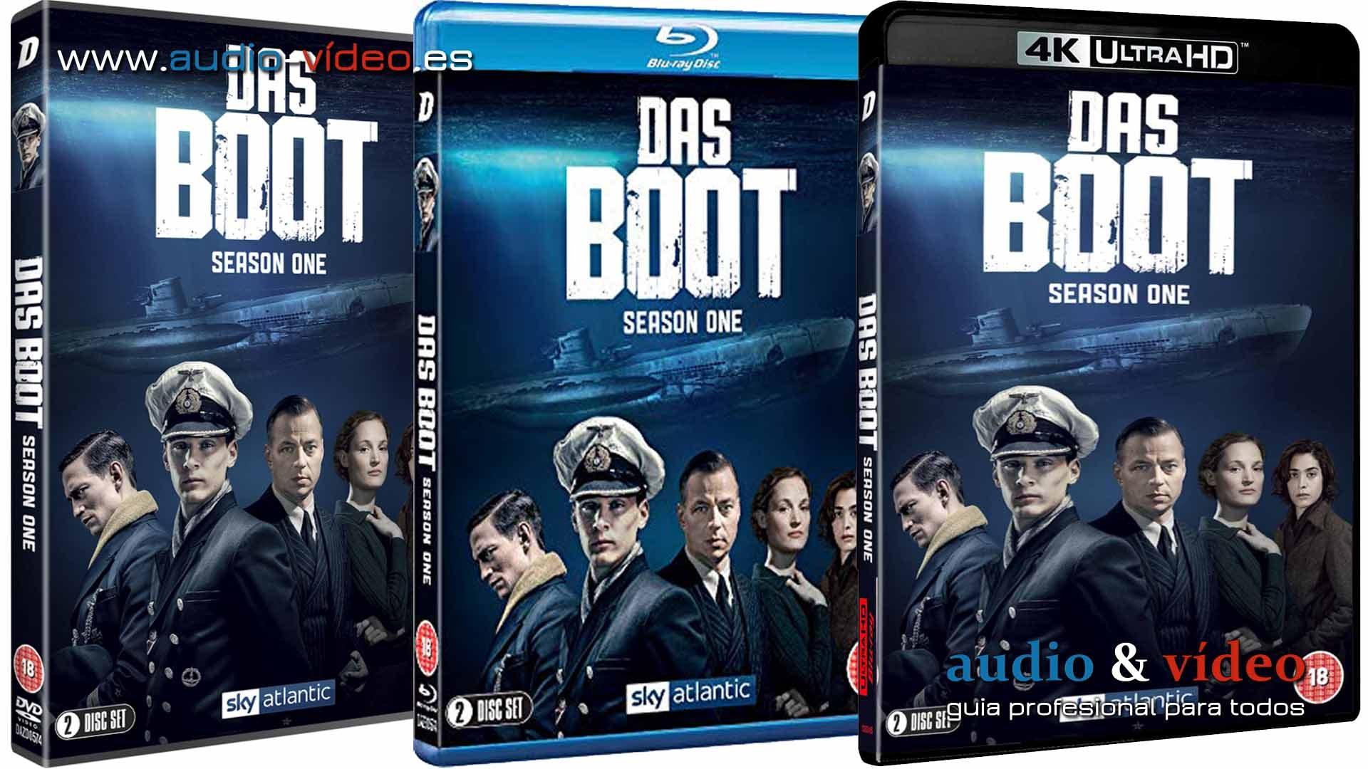 Das Boot – 4K UHD, BluRay y DVD – será la primera serie de televisión rodada y propuesta en 8K
