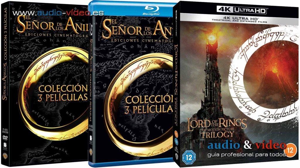 El Señor De Los Anillos edición especial 4K UHD BluRay DVD
