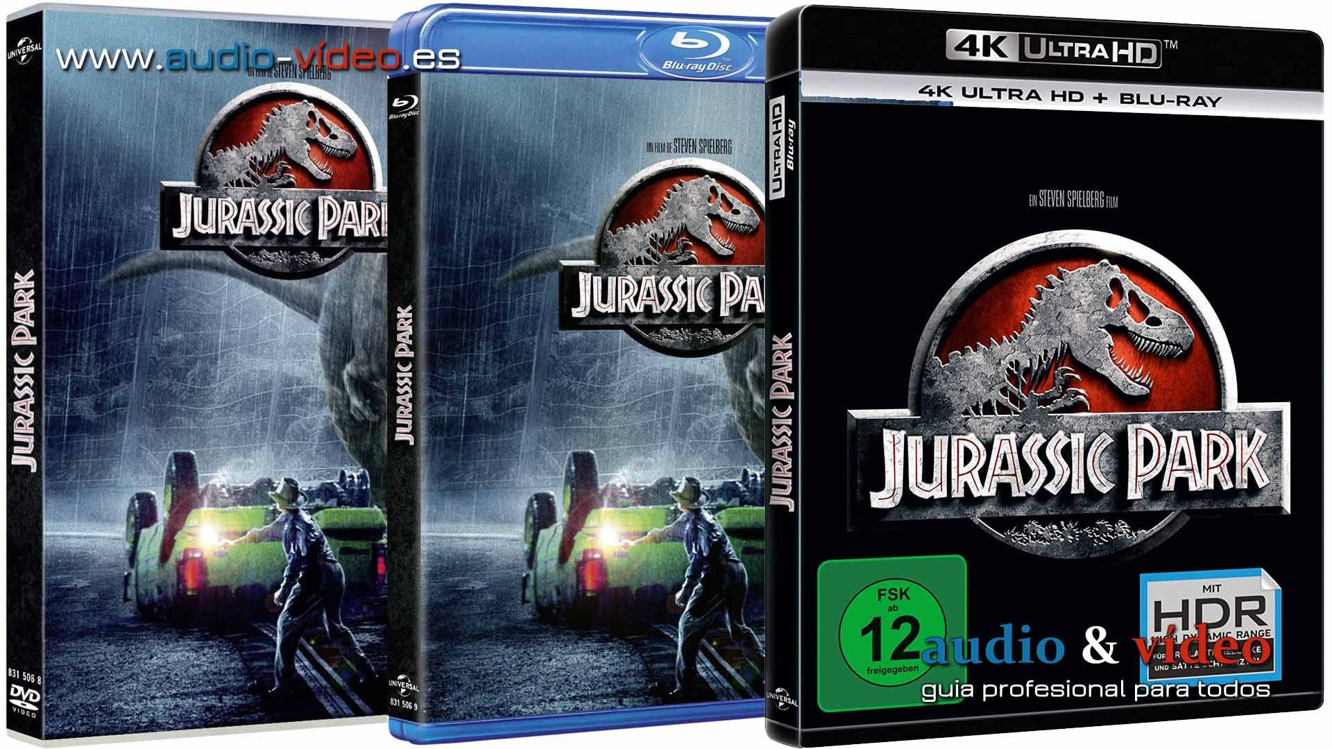 Jurassic Park – 4K, UHD, 3D, BluRay, DVD, VHS