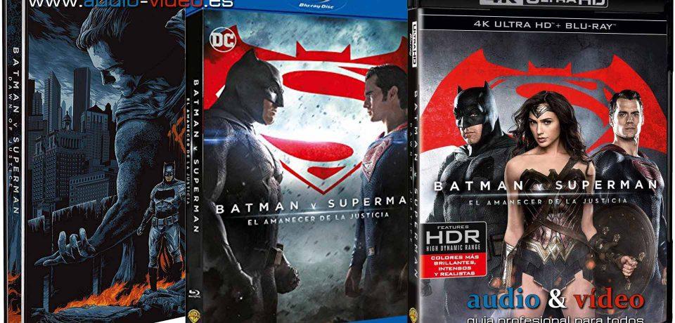 Batman v Superman – (Dawn of Justice) El Origen De La Justicia – 4K, UHD, BluRay, DVD + soundtrack