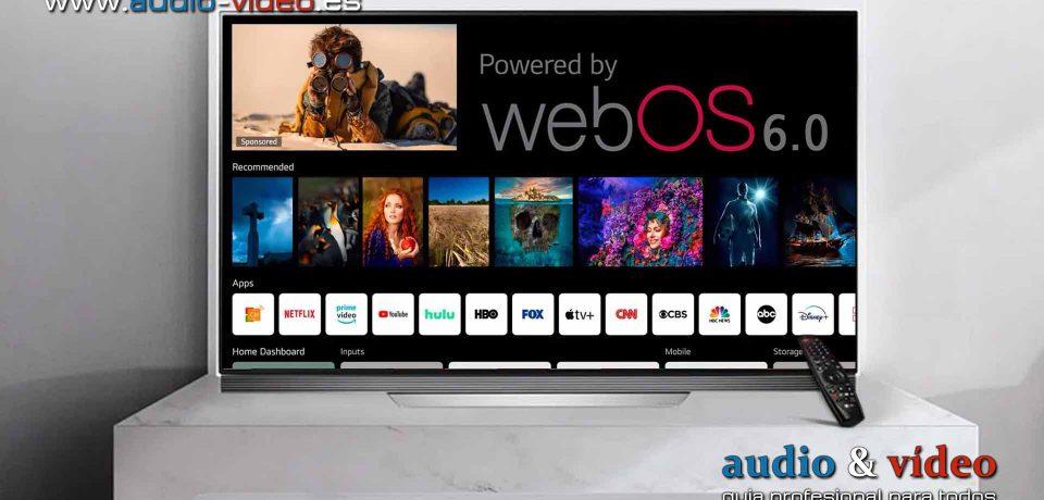 Nueva plataforma webOS 6.0 de LG para 2021