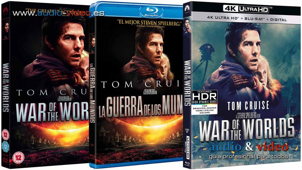 La Guerra De Los Mundos - Tom Cruise - 4K, UHD, BluRay, DVD