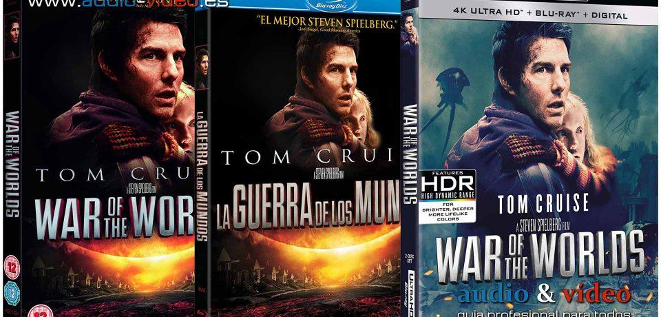 La Guerra De Los Mundos – Tom Cruise – 4K, UHD, BluRay, DVD + soundtrack