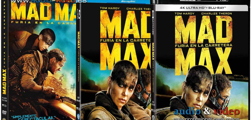 Mad Max – Fury Road – 4K, UHD, BluRay, DVD + soundtrack