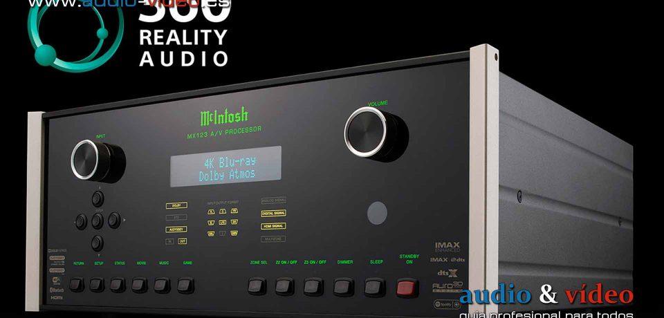 El procesador A/V McIntosh MX123 recibe soporte para el 360 Reality Audio de Sony