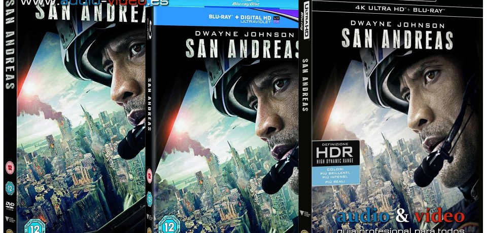San Andreas – 4K, UHD, BluRay, DVD + soundtrack