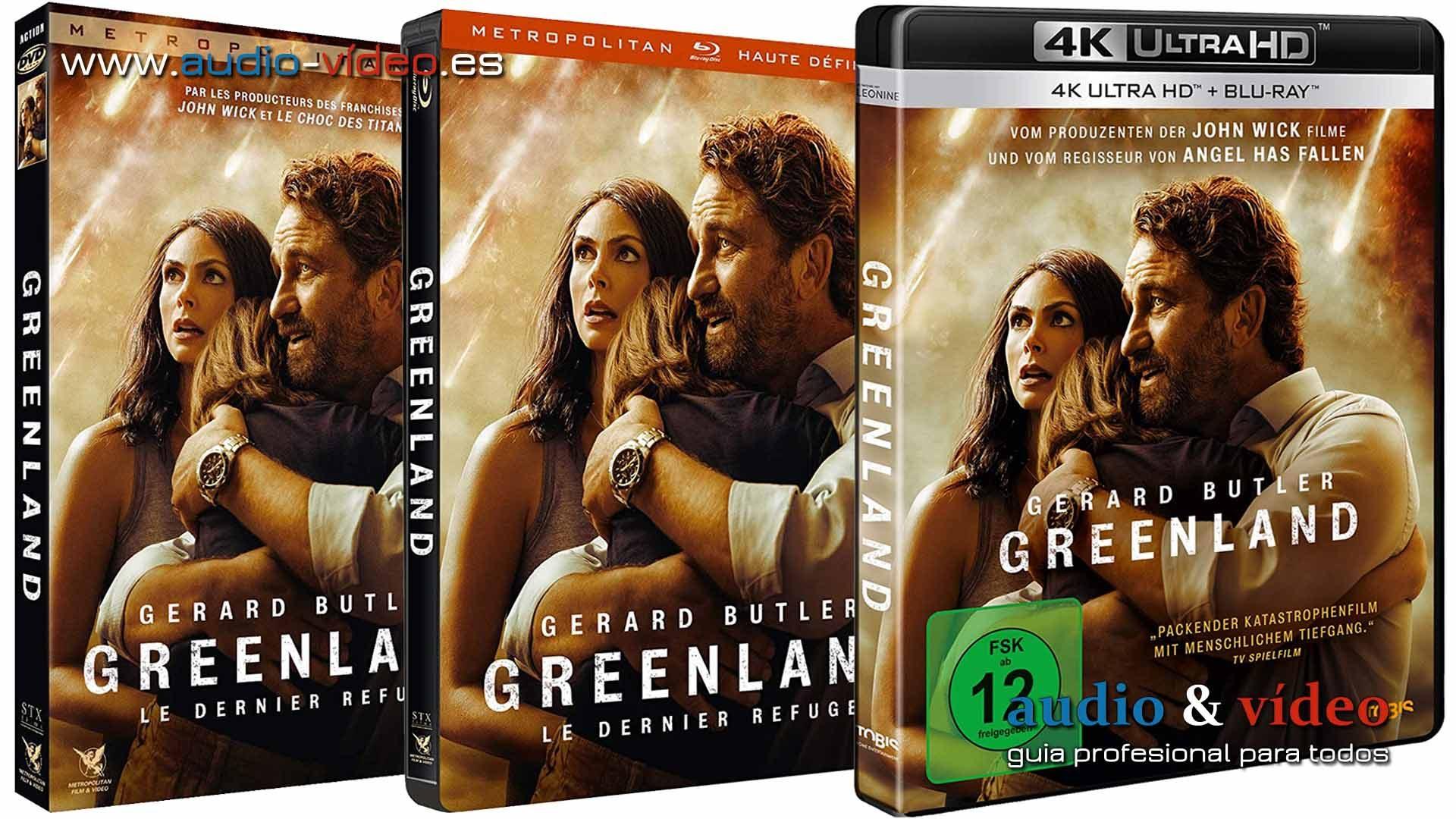 Greenland – 4K, UHD, BluRay, DVD + soundtrack