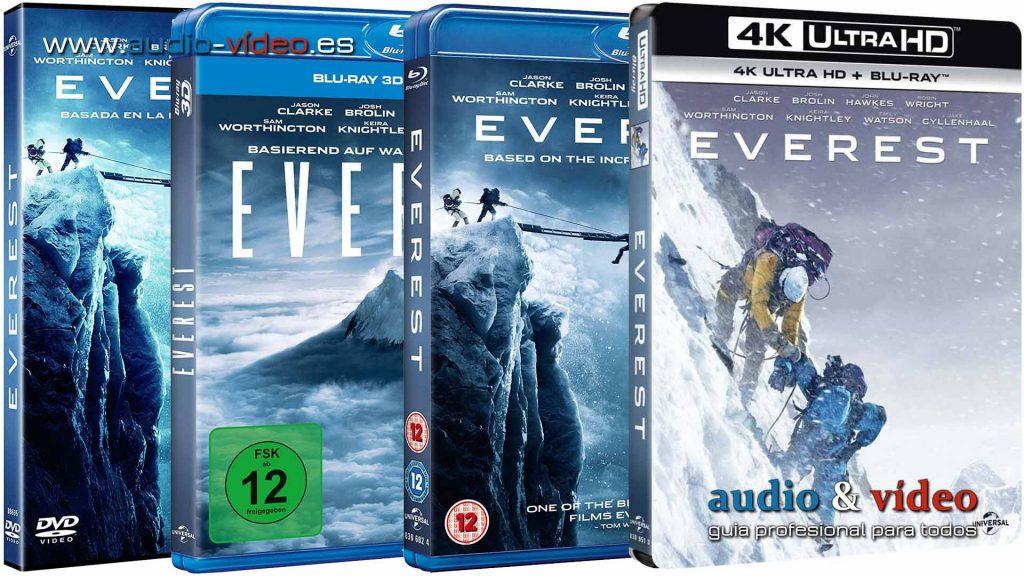 Everest - 4K UHD, BluRay 3D, BluRay, DVD