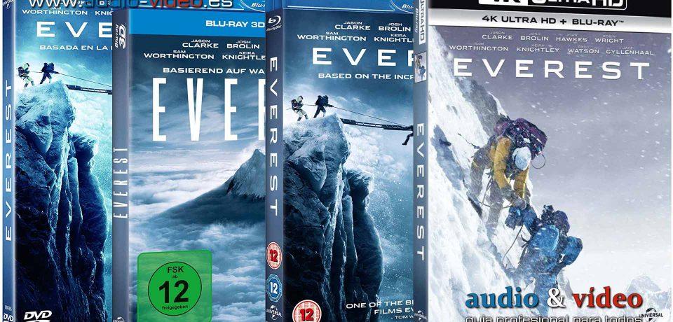 Everest – 4K, UHD, BluRay 3D, BluRay, DVD + soundtrack