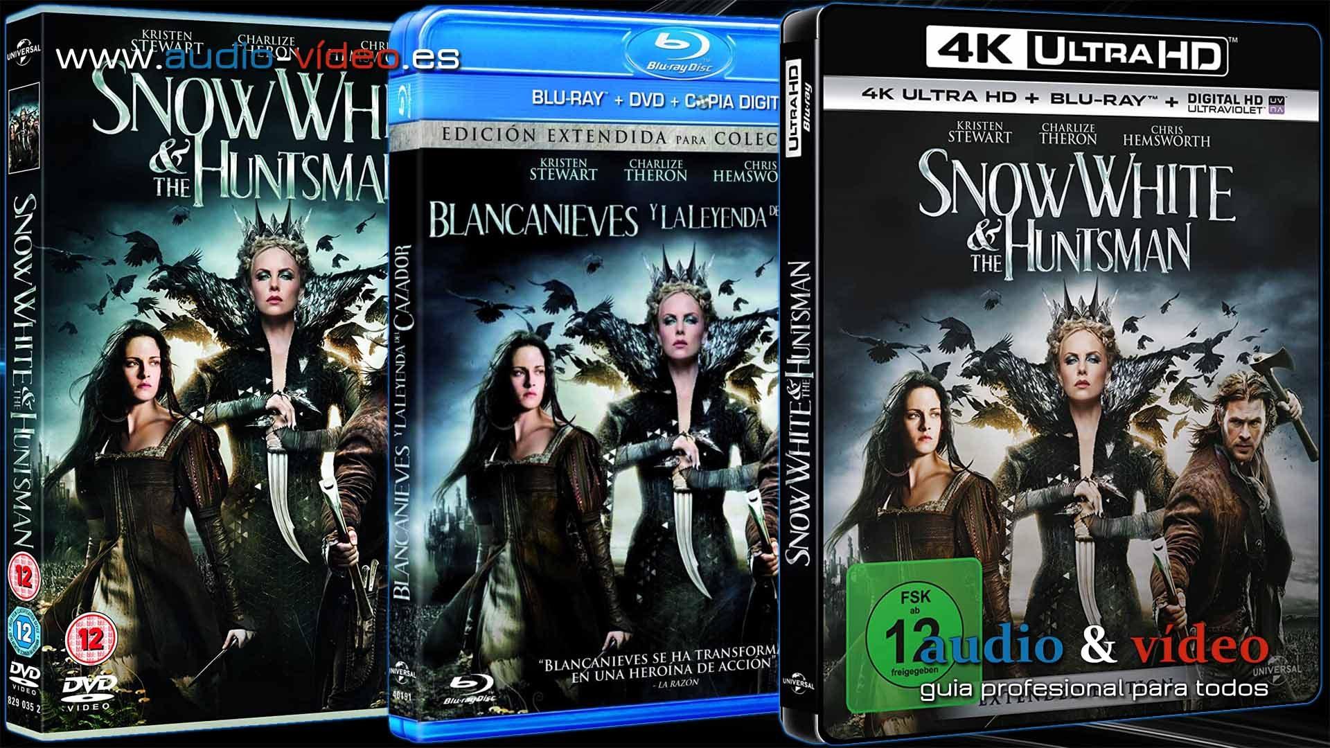 Blancanieves Y El Cazador – 4K, UHD, BluRay, DVD