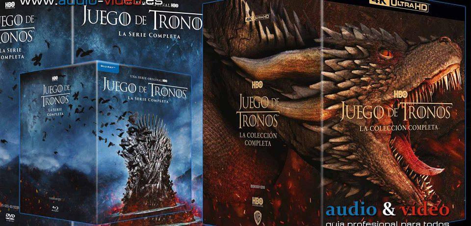 Juego De Tronos Temporada 1-8 Colección Completa – 4K UHD, BluRay, DVD + soundtrack