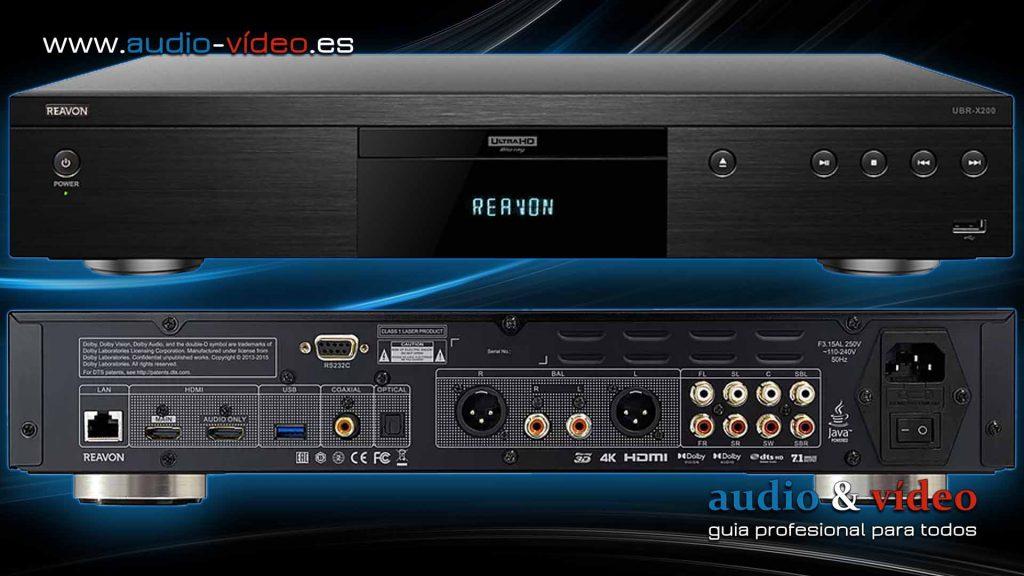 Reproductor 4K UHD, BluRay Reavon UBR-X200