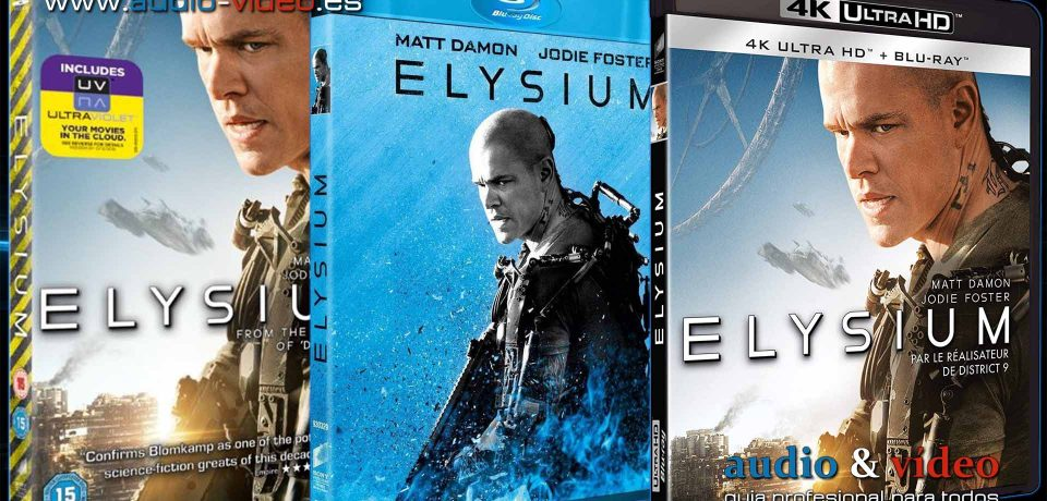 Elysium – 4K, UHD, BluRay, DVD + soundtrack + bonus