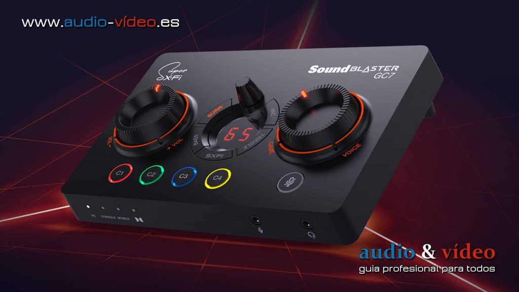 Creative Sound Blaster GC7: DAC USB, amplificador con Super X-Fi