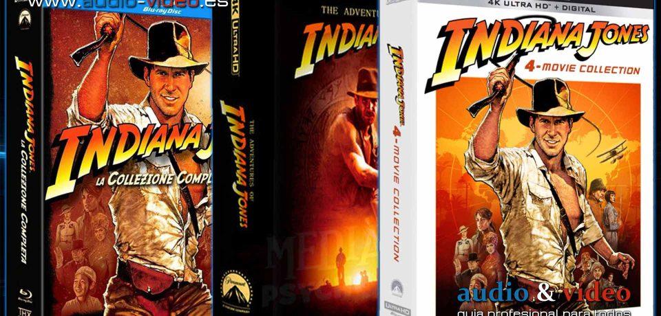 Indiana Jones – 1-4 Colección Completa – 4K UHD, BluRay, DVD + soundtrack