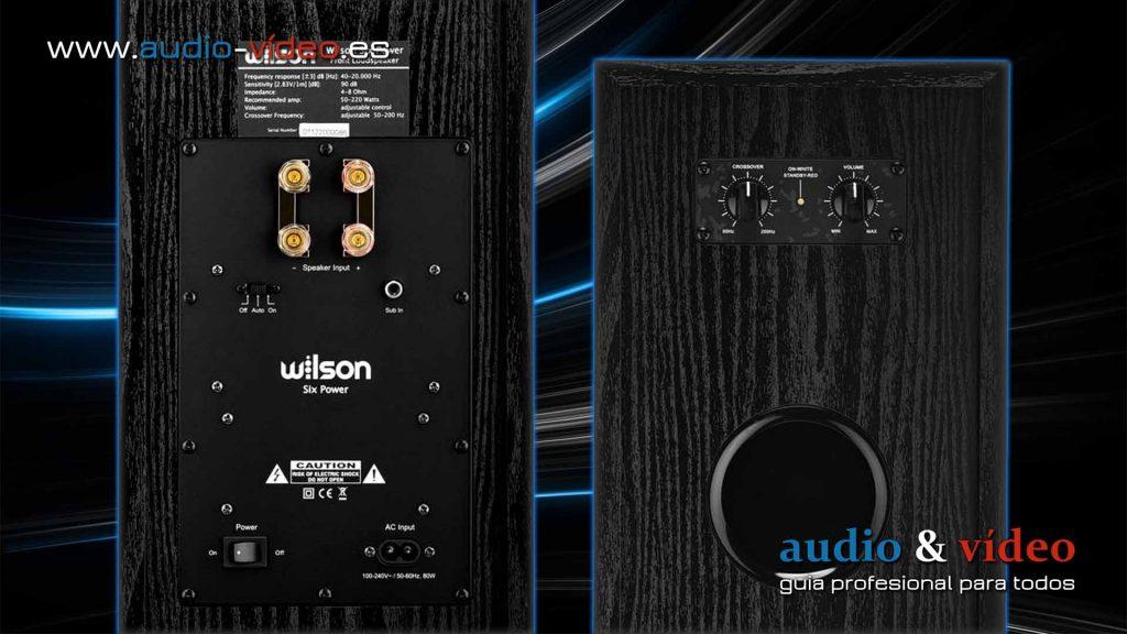 Altavoces con subwoofer activo - Wilson Six Power, reguladores
