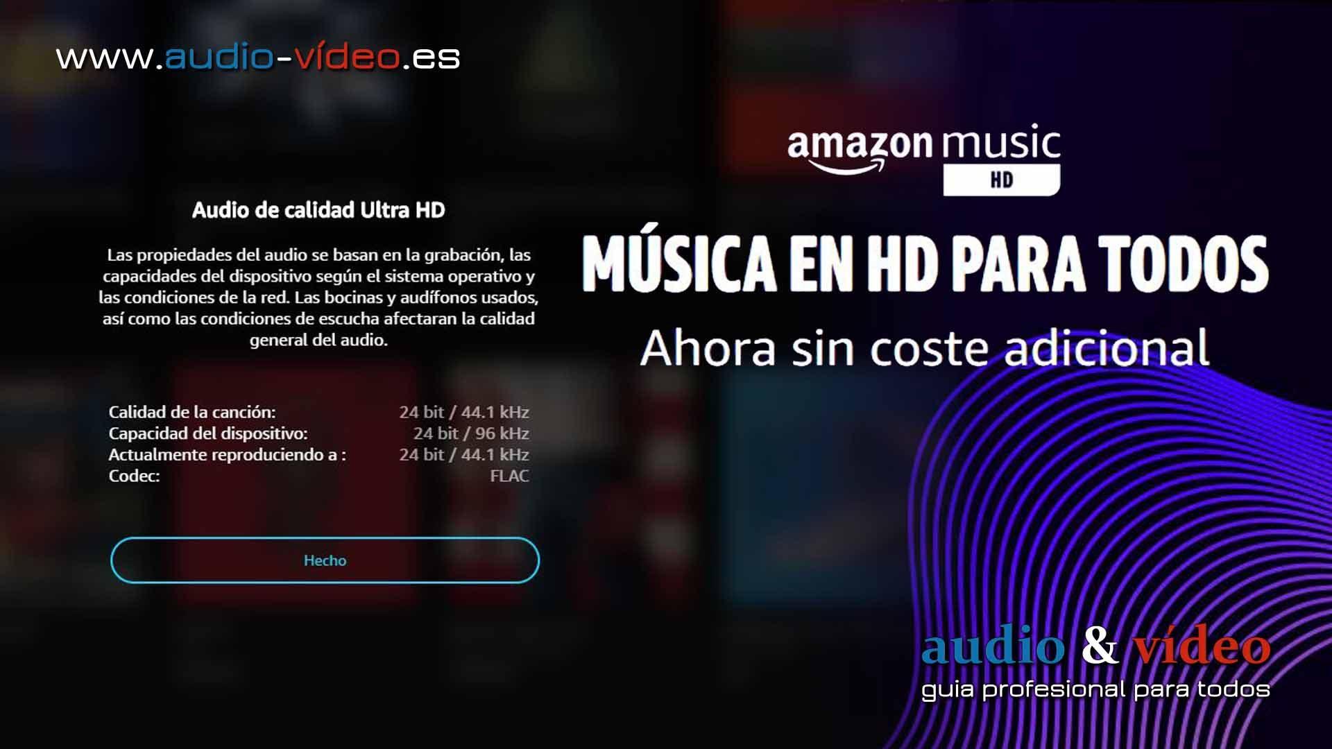 Amazon Music Unlimited HD – gratuito