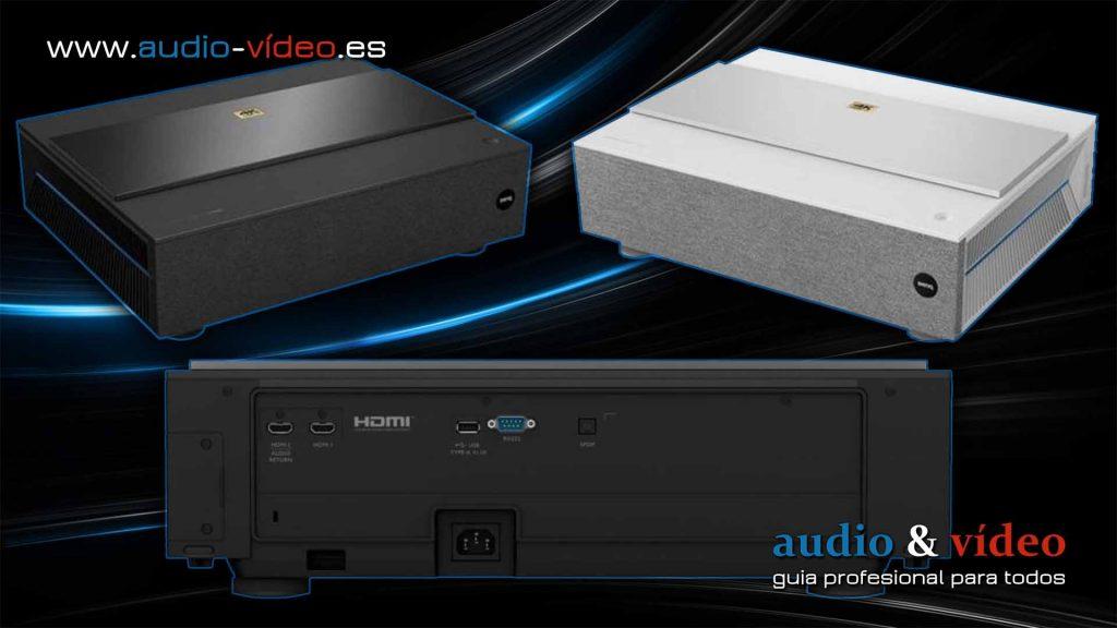 BenQ V7000i/V7050i nuevos projectores de BenQ 4K laser - frente, panel trasero - conectores